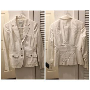 Banana Republic WHITE blazer size 4 NWT